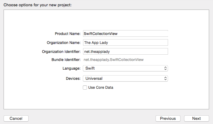 Swift Collection View: Phase 1/9 – The App Lady