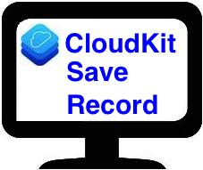 CloudKit Save a Record